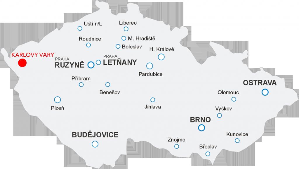 Lety Aerotaxi z letiště Karlovy Vary